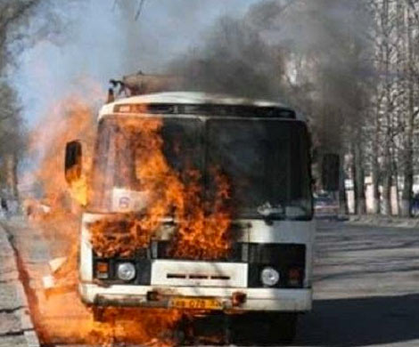 НаЯмале зажегся автобус спассажирами