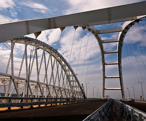 Автодорожная часть Крымского моста прошла проверку на прочность