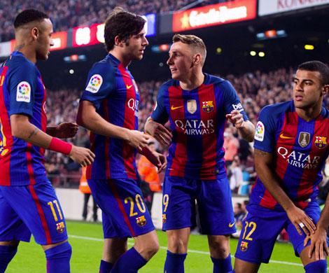 «Барселона» не без усилий победила в23-м туре Примеры «Леганес»