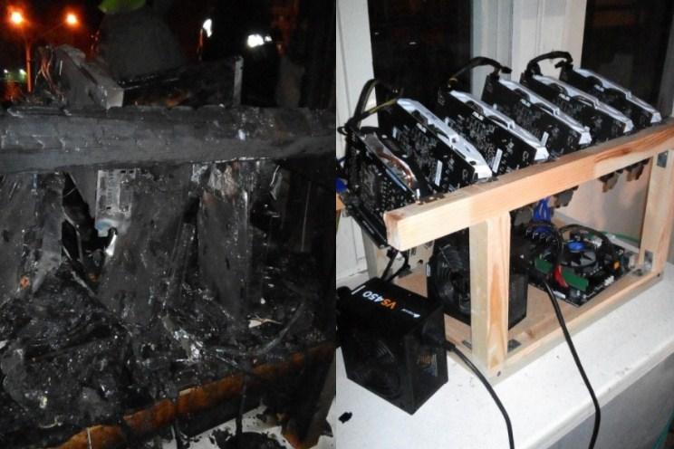 Ферма для майнинга стала предпосылкой пожара вквартире вСеверске