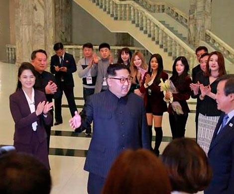 ВПхеньяне впервый раз с2005 года состоялся концерт южнокорейских артистов