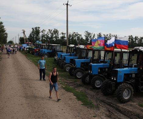 Кубанские фермеры направились маршем на российскую столицу