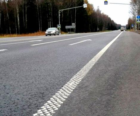 На дорогах появится шумовая разметка