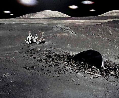 Уфолог изНижнего Тагила нашел НЛО нафото американцев сЛуны