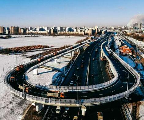Новая эстакада в Москве соединила две хорды
