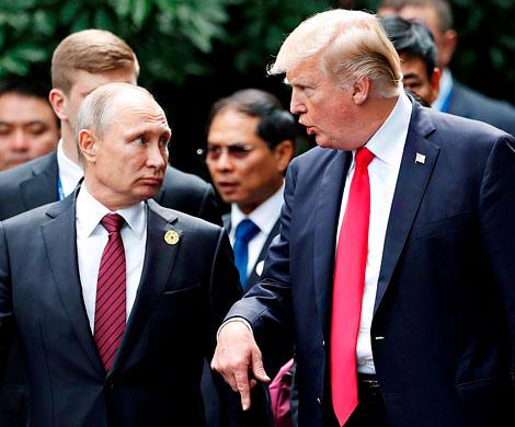 Белый дом обнародовал четкое время пресс-конференции В. Путина иТрампа