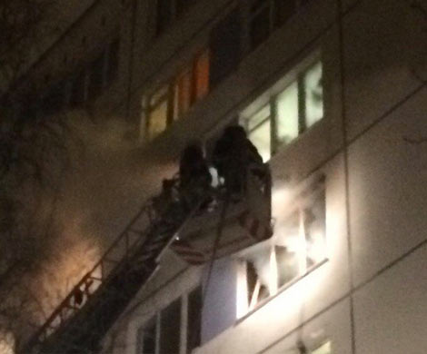 Петербург: впожаре воФрунзенском районе умер мужчина