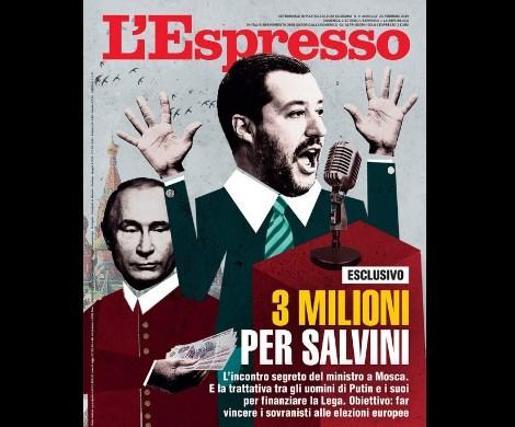 «Путинские миллионы для Сальвини»: итальянцы обвинили Россию во вмешательстве