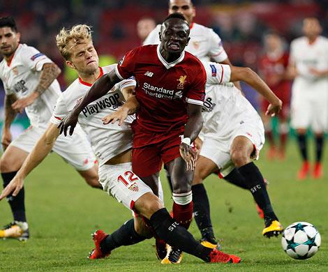 «Ливерпуль» прошляпил победу над «Севильей», ведя всчете 3:0