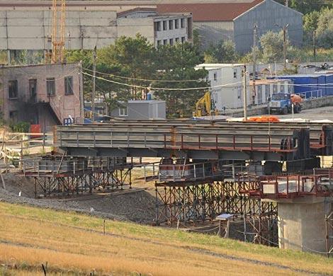 Для Керченского моста построили всю временную инфраструктуру