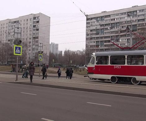 Трамвай зажегся насеверо-западе столицы