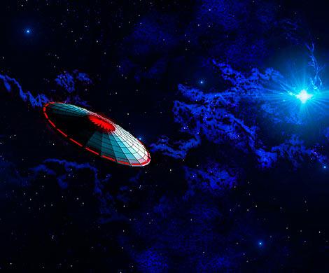 Боевой НЛО попал накамеры МКС
