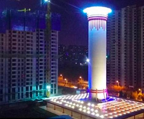 Наибольший вмире очиститель воздуха заработал в КНР