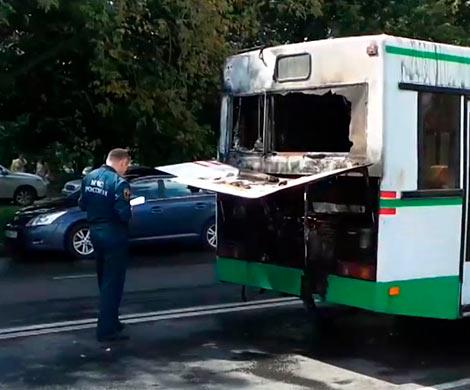 Автобус спассажирами зажегся в столицеРФ: пострадавших нет