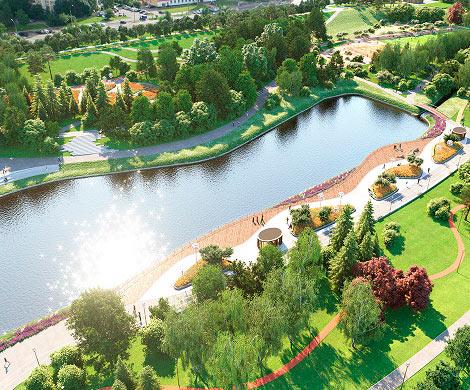 Впойме реки Битцы вМоскве доконца года появится трехъярусный парк