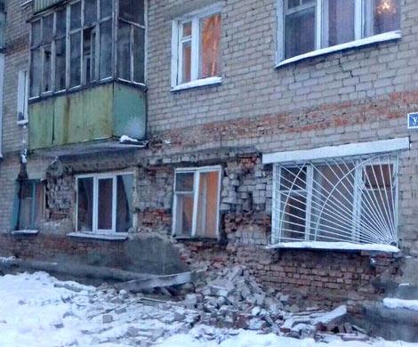 ВПензе случилось обрушение кирпичной кладки общежития