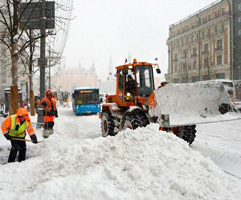 Выпавшего в Москве снега хватит чтобы заполнить поезд'длиной в экватор