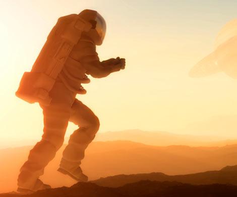 1-ый пилотируемый корабль приземлился наМарсе в давно минувшем 1979-ом году